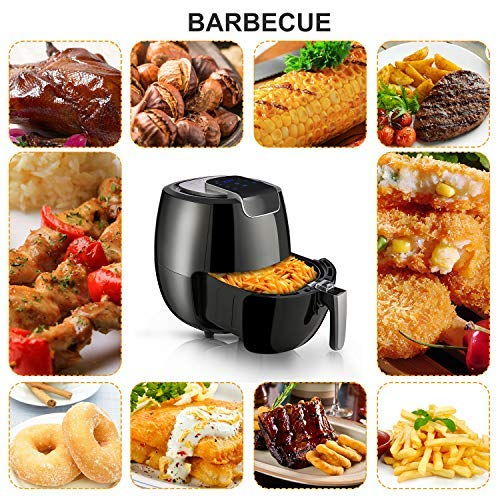 Air Fryer XL 6.8QT, 1800W Electric Hot Air Fryers Oven Oilless Cooker, LCD Digital Touchscreen, 8 Cooking Presets, Preheat & Nonstick Basket for Fast Healthier Fried Food by Hauture (Image #5)