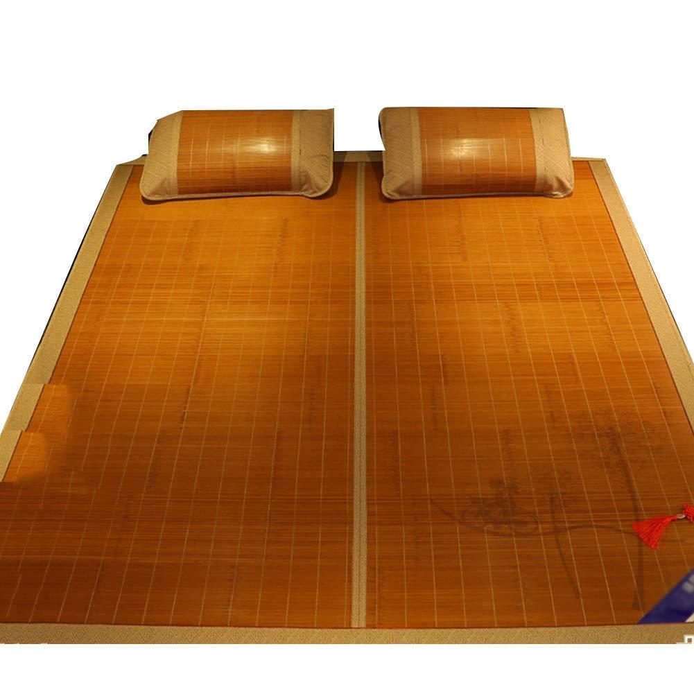 LIANGJUN 夏のマットレス草敷きマット両面使用 炭化 肌にやさしい クール なめらか ベッドライニング - 枕カバー2つ (色 : A, サイズ さいず : 135X195CM) B07RRMR7WC A 135X195CM