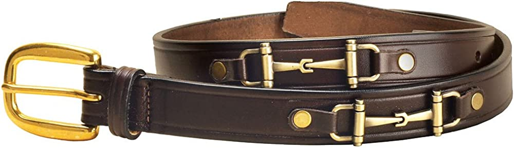 Tory Leather 1 Inch Snaffle Bit Belt