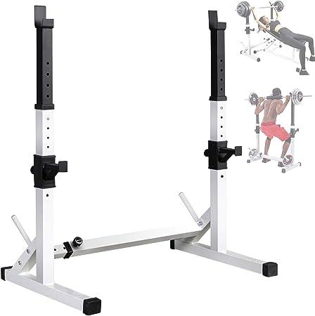 Supporto Bilancere rastrelliera rack e dip 200Kg fitness bodybuilding Squat