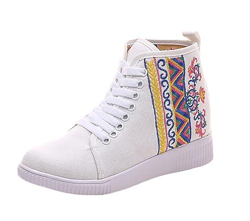 Insun Zapatos de Cordones Para Mujer Alpargatas de Mujer con Bordado: Amazon.es: Zapatos y complementos