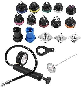 Universal Water Tank Leak Detector Kit, 18Pcs Cooling System Tester Radiator Sets Automotive Diagnostic & Test Tool Sets Water Tank Leak Detector Car Cooling System Tester Kit