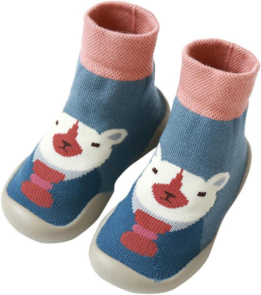 Baby Girls Boys Anti-slip Socks Cotton Floor Slipper Shoes Boots Step Socks