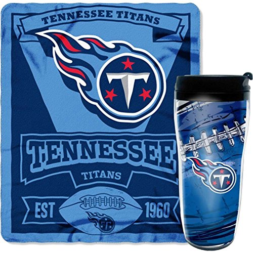 NFL Tennessee Titans Printed Fleece Throw and 16-ounce Travel - Throw Fleece Tennessee