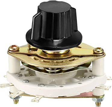 uxcell 4P3T 4 Pole 3 Position Selectable Single Deck Band Channel Rotary Switch Selector