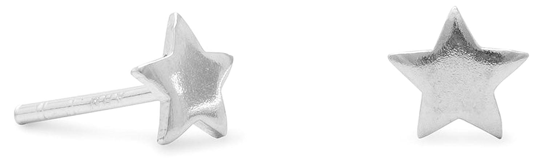 3//16 inch Sterling Silver Star Post Stud Earrings