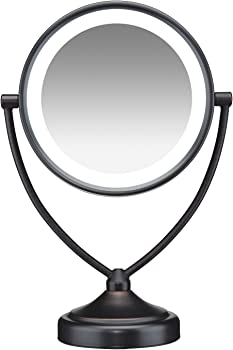 Conair Round Shaped Natural Daylight Double-Sided Makeup Mirror