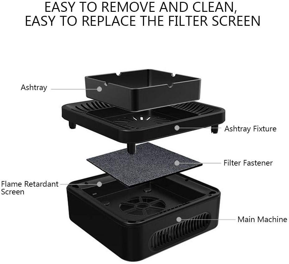 Duevin Cendrier pour purificateur dair Purificateur dair filtre /à charbon actif par aspiration puissante Rechargeable par USB pour Voiture//Int/érieur//Ext/érieur Prot/éger la Sant/é de la Famille