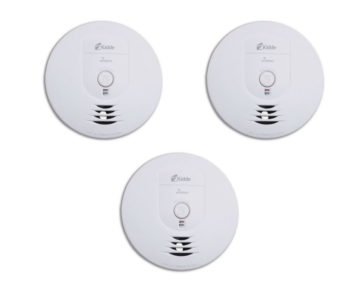 Kidde RF-SM-DC Wireless Interconnect Battery-Operated Smoke Alarm (Pack of 3) by Kidde