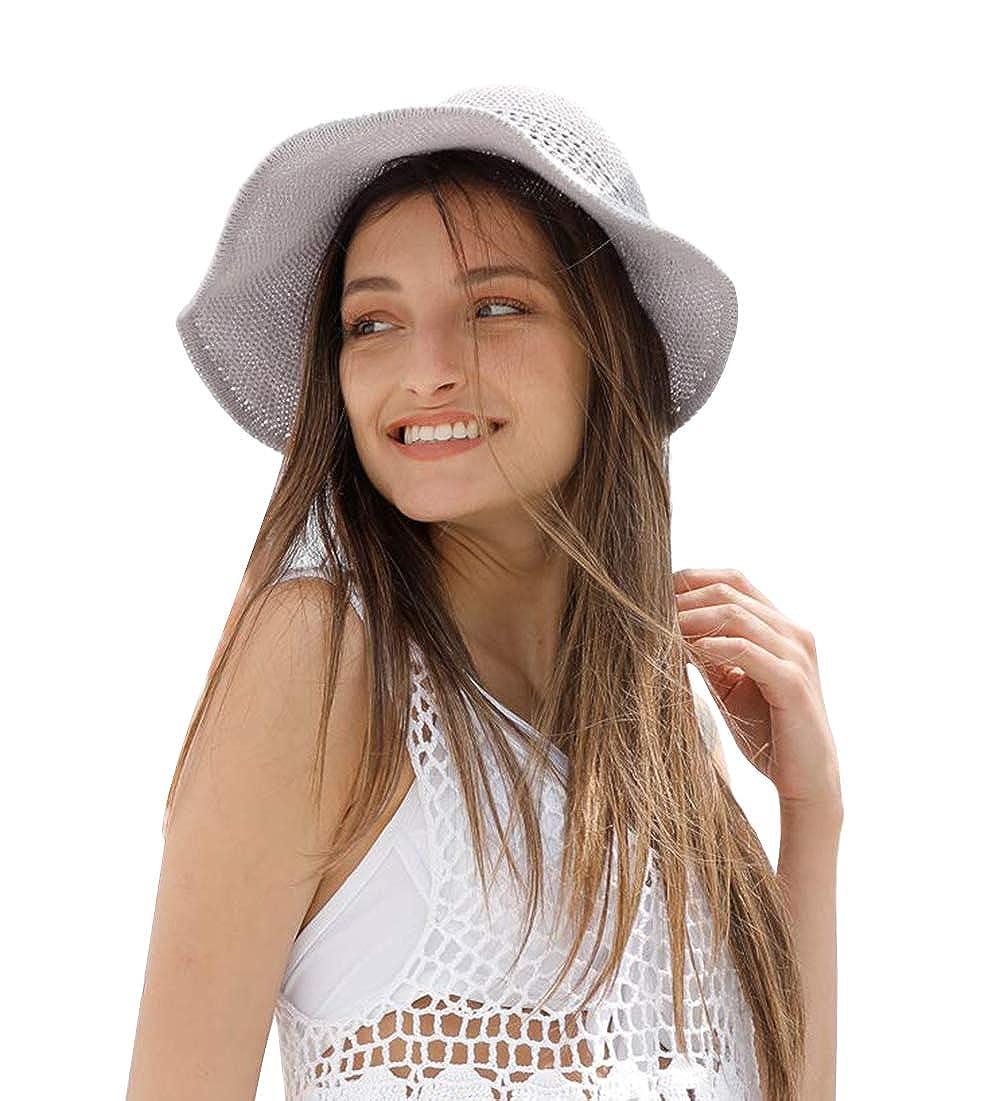 for Travel AMAKU Women Large Brim Sun Hats Foldable Beach Sun Visor UPF 50