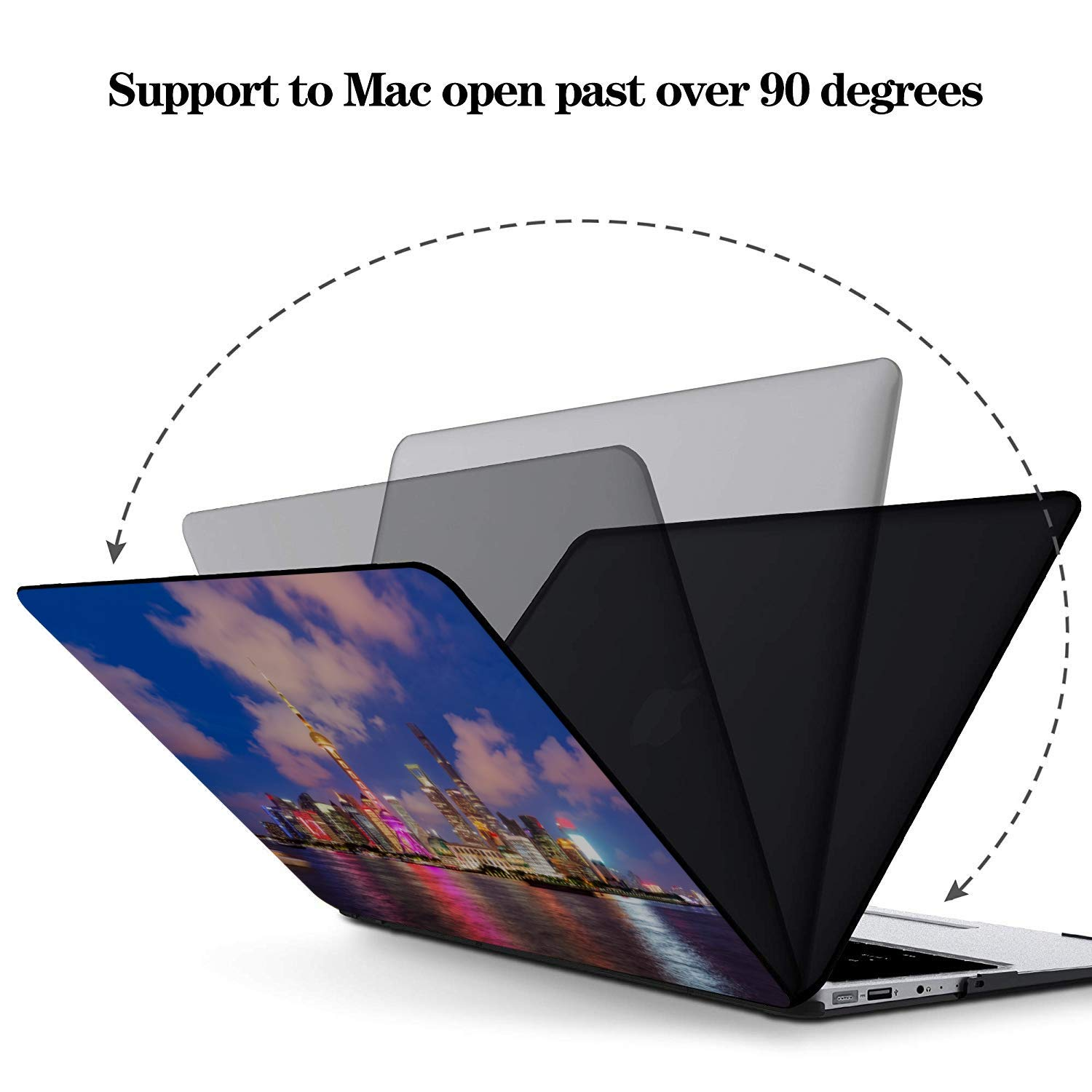 Computer Cover Sign Travel Building Oriental Pearl Plastic Hard Shell Compatible Mac Air 11 Pro 13 15 MacBook Case 13 Inch Protection for MacBook 2016-2019 Version
