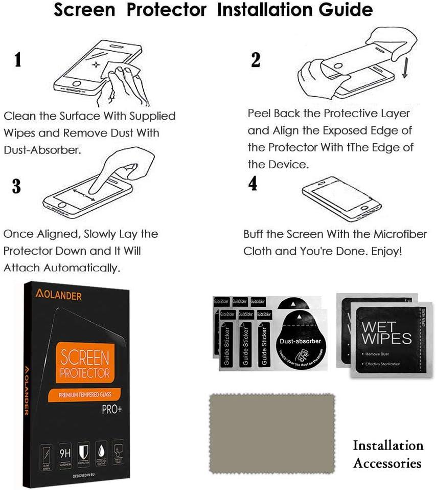 pleine couverture imperm/éable Film Protective Screen Protector【Lot de 4//Noir 】 sans bulle POVINMOS pour Garmin Venu Sq TPU HD Protecteur d/écran Protection /Écran