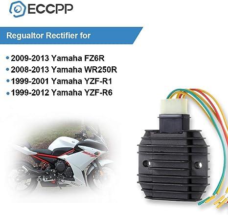 Voltage Regulator Rectifier Yamaha FZ6 2004-2009 Yamaha FZ6R 2009-2013 Yamaha WR250R 2008-2013 Yamaha YZF R1 1999-2001 Yamaha YZF R6 1999-2012 RRV-A033 Rectifier Regulator