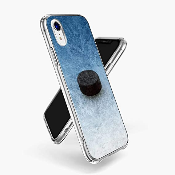 premium selection 22f02 c94ad Amazon.com: iPhone Xr Case, Ice Hockey Phone case iPhone Xr Clear ...