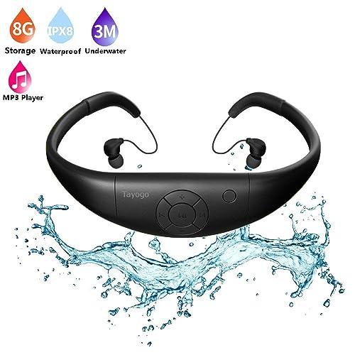 Tayogo 8GB Waterproof MP3 Player Swimming Headphone