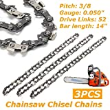 3pcs Chainsaw Semi Chisel Chains 3/8LP 050 52DL for Husqvarna 236E husqvarna chainsaw mill ripping chain worx parts greenworks