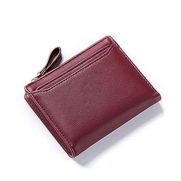 Amazon.com: Women Wallet Leather Women Short Wallet Female Lady Small Solid Color Change Purse Hot Clutch Carteras 6