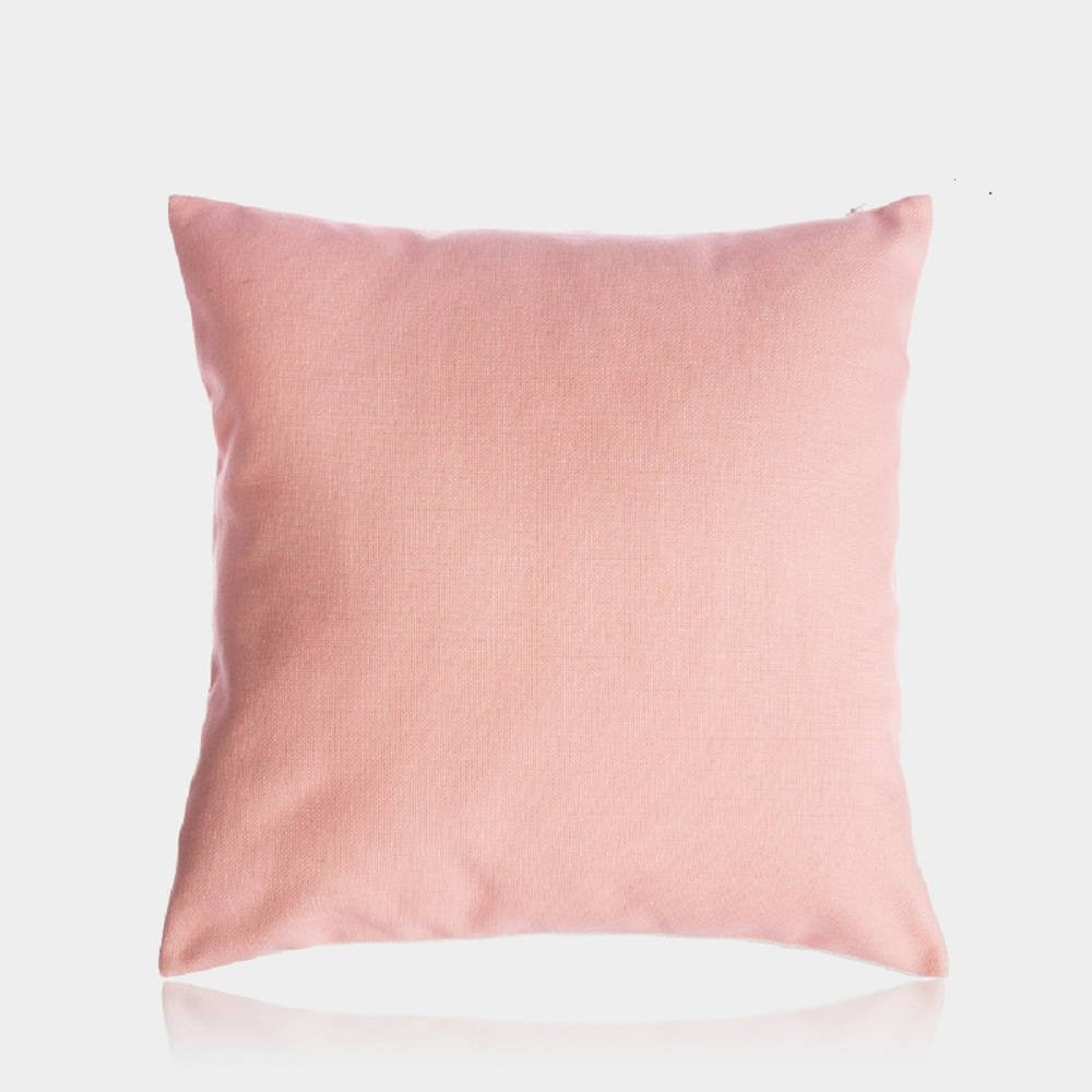 Corel Pink Throw Pillow Cover Decorative Cotton Linen Cushion Cover for Bed Couch Sofa Kid's Room Nursery 18''X18''