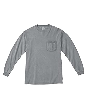 Comfort Colors 6.1 Oz. Long-Sleeve Pocket T-Shirt (C4410) | Amazon.com