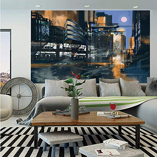 Wall murals are the quickest and most affordable solution for decorating. Transform Any Room Instantly! Covers An Entire Wall! Our stylish modern mural is an eye-catcher in any room. Whether living room, office, playroom or bedroom-bring a stop to yo...