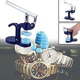 Einpresswerkzeug Uhrmacher Gehäuseschließer Deckelpresse 12 Druckplatten