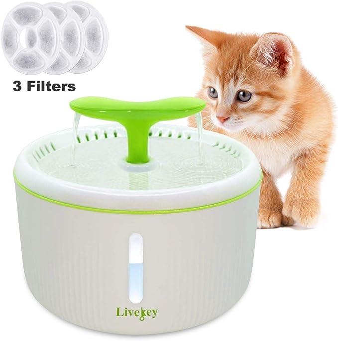 Toozey IPX8 Cat Fountain Pump 2 W Quiet Replacement Pump Cat Fountain Super Low Consumption Cat Fountain Pump Pump for Cat Fountain