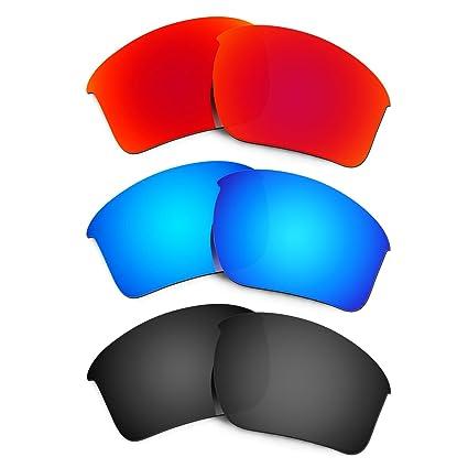 f20da5fc3481f Hkuco Mens Replacement Lenses For Oakley Half Jacket 2.0 Xl Sunglasses Red  Blue Black