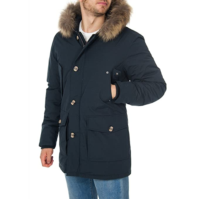 official photos d84db a82be CANADIAN Parka Uomo Blu Navy Manitoba Lux GCM01LUXNAVY ...