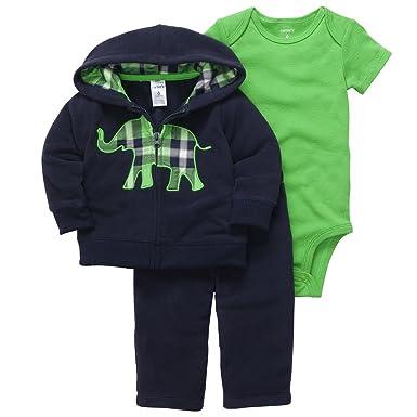 5f967e714 Carters Infant Boy Blue Elephant Outfit Sweat Pants Creeper Jacket Hoodie 3m