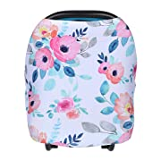 Nursing Cover Car Seat Cover for Breastfeeding, Stroller, Carseat Canopy, High Chair, Shopping Cart, Baby Gift for Girls and Boys, Added Bonus Bag