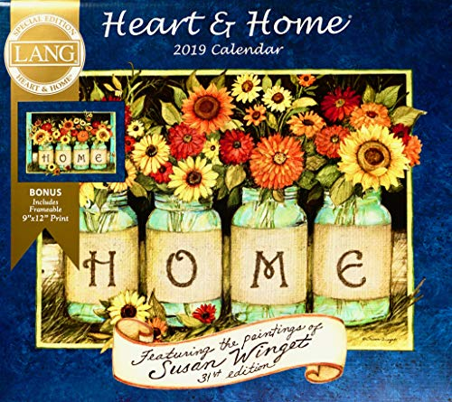 Print Heart Calendar - Lang Heart & Home 2019 Wall Calendar Special Edition with Bonus Print