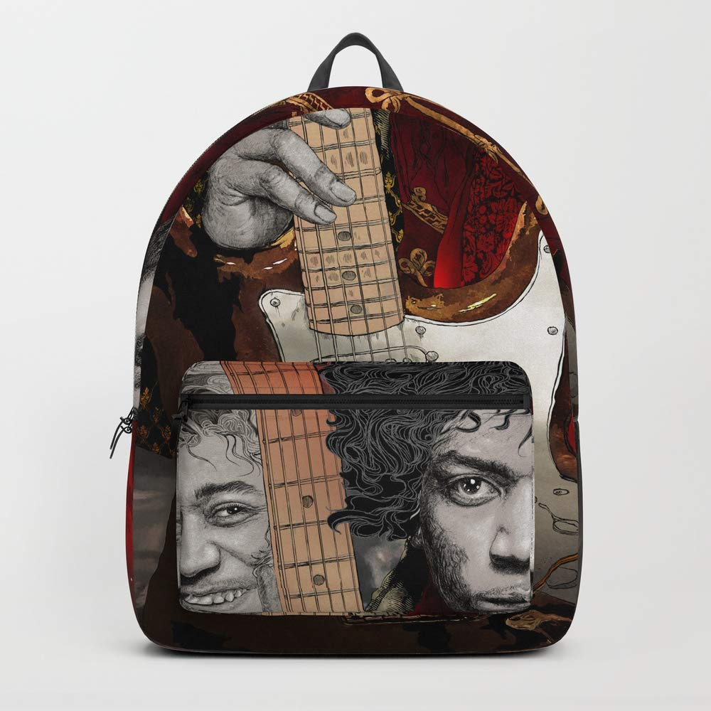 Society6 Backpack, Jimi Hendrix Triple Portrait Illustration by Hubert_fine_Art, Standard Size