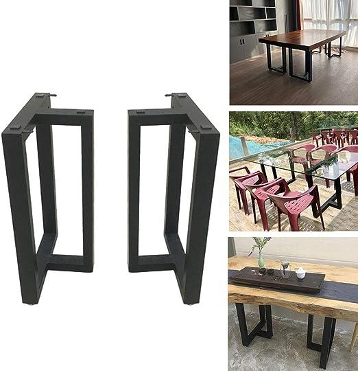 Patas de mesa de hierro negro, 2 piezas Industrial Patas en forma ...