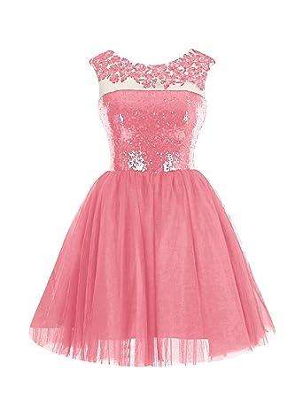 Dressystar Vestido Para Niña Rosa Coral Amazones Ropa