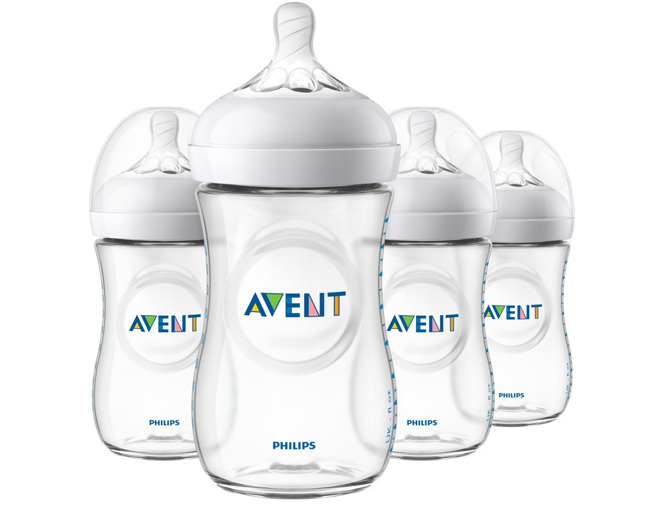 Philips Avent Natural Baby Bottle, Clear, 9oz, 4pk, SCF013/47 by Philips AVENT