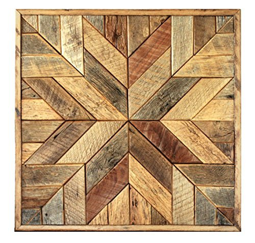 Reclaimed wood star quilt block wall art – 36 inch Review