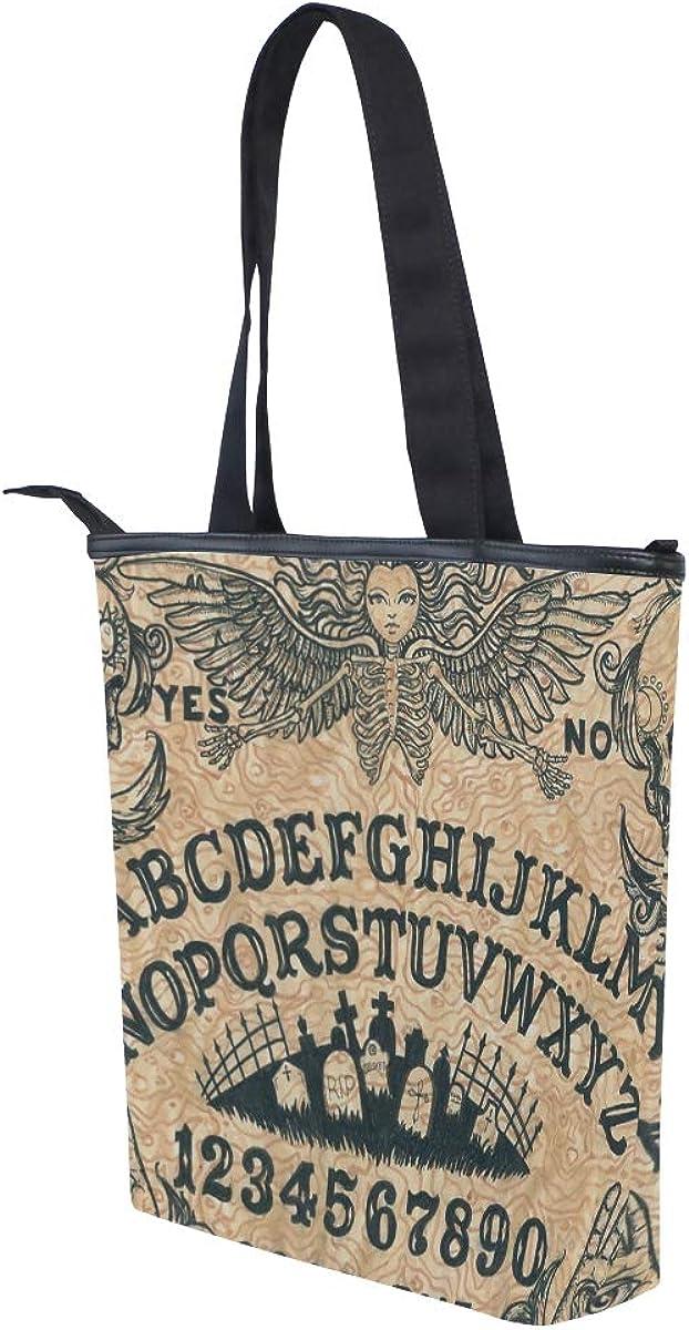 Women Large Tote Top Handle Shoulder Bags Angel Of Death Ouija Board Satchel Handbag