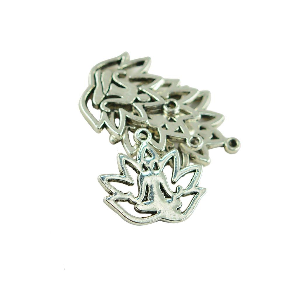 10x Eule Charm Anhänger antiksilber für Halskette Neu Zinklegierung Schmuck DIY