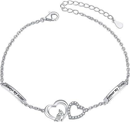 Fashion Jewelry Birthday Gifts for/Women Girls MUATOGIML 925 Sterling Silver Heart Endless Love Infinity Charm Bracelet