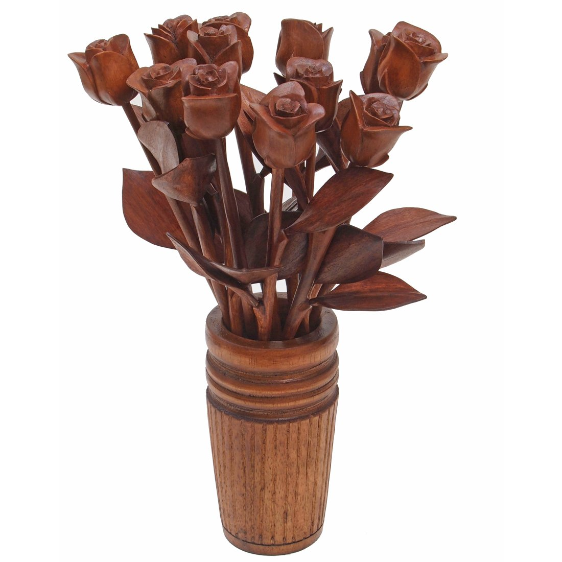 5th (fifth) Wedding Annniversary gift of traditional wood rose bouquets by year (5th Wood (natural))