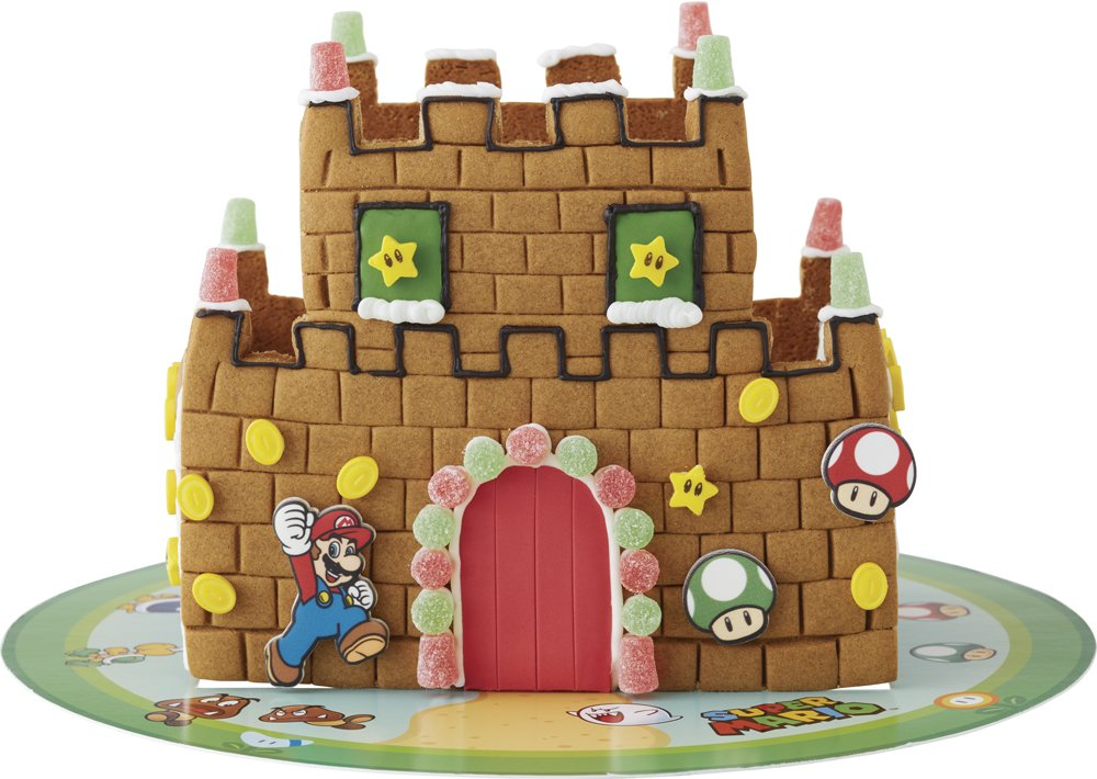 Wilton Super Mario Brothers Gingerbread Castle Decorating Kit (2104-5342)