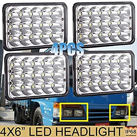 Amazon.com: 4PCS 4X6 Sealed Beam LED Headlights for Isuzu NQR/NPR / NPR-HD GMC, H4651 H4642 H4652 H4656 H4666 H4668 H6545 Conversion Kit Sealed Beam Super ...