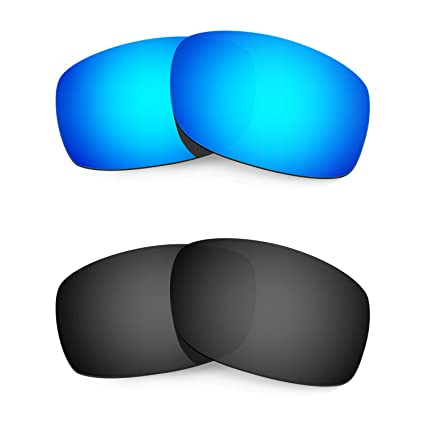 c5fb1547b4 HKUCO Mens Replacement Lenses For Oakley Fives Squared Sunglasses Blue Black  Polarized  Amazon.fr  Vêtements et accessoires