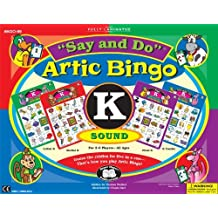 """Say and Do Artic Bingo Sound Game Letter """"K"""" - Super Duper Educational Learning Toy for Kids"""
