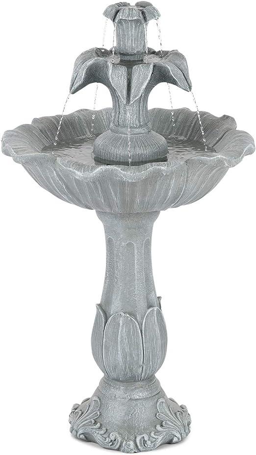 Blumfeldt Floreal - Fuente de jardín, Estanque, Fuente Vertical ...
