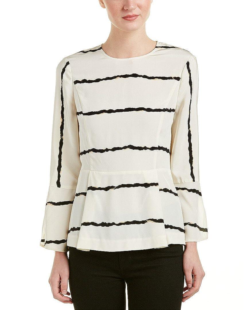31d40b5ed5e2e Amazon.com  Derek Lam 10 Crosby Striped Silk Peplum Top 2  Clothing