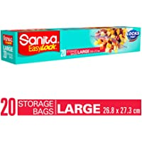 SANITA EASY ZIP LOCK FOOD STORAGE BAGS LARGE 20 BAGS