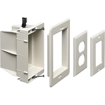 Arlington Dvfr1w 1 Recessed Electrical Outlet Mounting Box