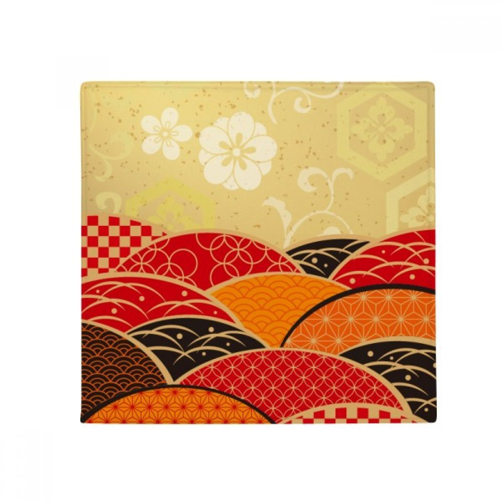 DIYthinker Sakura Geometry Pattern Japan Anti-Slip Floor Pet Mat Square Home Kitchen Door 80Cm Gift