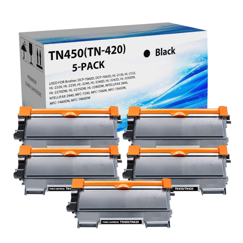 10pk For Brother TN-450//420 Black Toner Cartridge HL-2270DW MFC-7360N DCP-7070DW